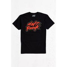 Daft Punk Logo Tee ($34) ❤ liked on Polyvore featuring men's fashion, men's clothing, men's shirts, men's t-shirts, black, j crew mens shirts, mens graphic t shirts, mens cotton t shirts, mens cotton shirts and mens crew neck t shirts