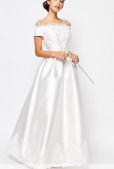 vestido de novia civil ilusión $ 160.000