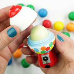 ORDER YOUR NEW EMTPY CONTAINER HERE https://www.etsy.com/listing/470062701/lip-balm-holder-containers-diy-lip-balm?ref=listings_manager_grid brilliant, fun and sometimes crafty ways to gift eos lip balm.