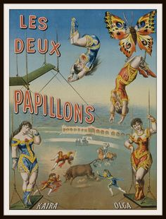 "Beautiful art print Vintage Circus Poster Art Image Wall Decor Unframed Print is Unframed 8.5 x 11"" Ready for framing . Professionally printed on medium weight cardstock"