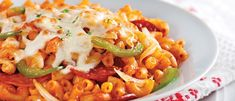 Macaroni Style Pizza Pizza, Macaroni And Cheese, Ethnic Recipes, Food, Style, Al Dente, Bell Pepper, Cooking Food, Dish