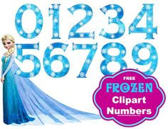 Frozen Party - FREE #Frozen Snowflake Numbers, large clipart size, great for Frozen birthday party l Great-Kids-Birthday-Parties.Com