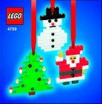LEGO 4759 Three Christmas Decorations - Santa, Tree and Snowman Set Parts Inventory and Instructions - LEGO Reference Guide Lego Christmas Ornaments, Christmas Crafts For Kids, Christmas Decorations, Christmas Makes, Christmas Fun, Holiday Fun, Lego Advent Calendar, Lego Design, Buy Lego