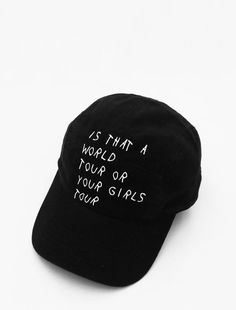 Image of World Tour Black Strapback Cap 53f549805410