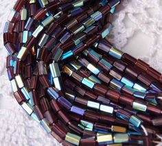 Atlas hexagonal Czech glass beads in Amethyst AB 50pc WBS0042, €0,80