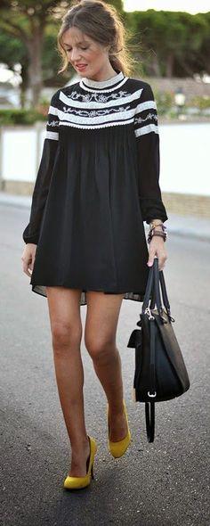 aff5b1f37364 Daily New Fashion : Black Maytina Dress Fashion Black, Look Fashion, New  Fashion,