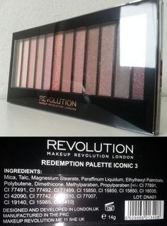Prime Impressioni: Makeup Revolution Redemption Palette Iconic 3 http://she-wore-shiseido-red.blogspot.it/2014/06/prime-impressioni-makeup-revolution_7.html