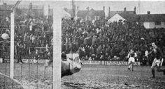 Brighton 1 Bedford Town 1 in Dec 1965 at the Goldstone Ground. Bill Brown scored for Bedford in the FA Cup 2nd Round.