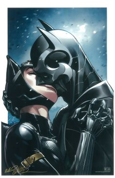 Catwoman & Batman in Injustice:Gods Among Us # 34 - Art by Mike Miller (Signed at Wizard World Philadelphia 6/21/14)
