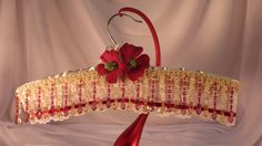 HANGER COUTURE  Christmas Floral  Padded by TheGoldenTurtle, $30.00