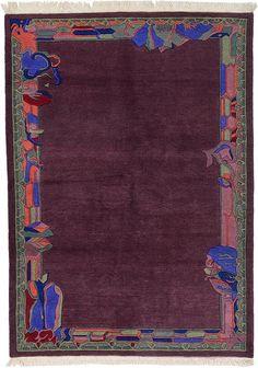 Purple Nepal Area Rug
