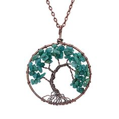 Sedmart Tree of life pendant Amethyst Rose Crystal Necklace Gemstone Chakra Jewelry Mothers Day Gifts http://ift.tt/2k2YPSR