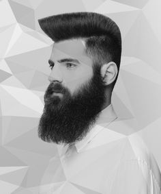 Dale Ted Watkins' men's haircut is a long technical flat top through the fingers, which is further refined with a clipper-over-comb technique.