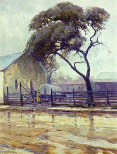 'Rainy Day in Bandera' by Robert Julian Onderdonk (1882-1922, United States)