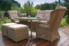 Winchester High Back Sofa Dining are one sale for more details please check out our website:- Rattan Outdoor Furniture, Garden Furniture, Outdoor Decor, Beige Cushions, 2 Seater Sofa, Extra Seating, Winchester, Relax, Dining