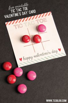 Tic Tac Toe Valentine's Day Card - seven thirty three