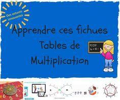 Sous main pour maternelle et cp classe pinterest - Apprentissage des tables de multiplication ...