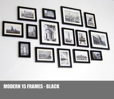 Photo Picture Frame Set   Modern 15 by HOMELOO on Etsy, $78.00