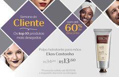 Compre na Rede Natura a polpa hidratante para mãos Ekos castanha com 50% OFF. Promoção válida até 18/set   Semana do Cliente