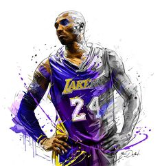 Kobe Bryant Poster, Banner or Canvas - Artwork Bryant Bryant Black Mamba Bryant Cartoon Bryant nba Bryant Quotes Bryant Shoes Bryant Wallpapers Bryant Wife Kobe Bryant Lakers, Bryant Basketball, Kobe Bryant 24, Basketball Legends, Sports Basketball, Basketball Players, Fantasy Basketball, Sports Art, Rockets Basketball