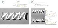 Paper-folding techniques: folded motifs Origami And Kirigami, Origami Paper Art, Origami Folding, Paper Crafts, Folding Architecture, Architecture Model Making, Paper Folding Techniques, Geometric Sculpture, Cube Design