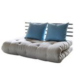 Buy ShinChan Easy Double SofaBed Futon Online: Shop from wide range of Sofa Cum Beds Online in India at best prices. Funky Furniture, Bed Furniture, Couches, Cozy Sofa, Beds Online, Futon Mattress, Wooden Sofa, Blue Cushions