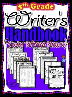 """Writer's Handbook"" is a valuable resource for your intermediate writers. During writing workshop and throughout the day, students will have, at their fingertips, the information they need to help them be successful writers. $"