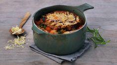 Grønnsaksuppe fra Toscana - Oppskrifter - MatPrat Tortellini, Pesto, Fries, Baking, Kitchen, Recipes, Food, Bread Making, Cucina