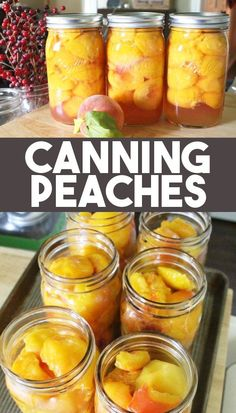 How to Can Peaches the EASY WAY! This recipe for canning peaches in light syrup the easy way, without a canner is the perfect summer canning recipe! You can learn how to make canned peaches in this step by step canning recipe for beginners! Home Canning Recipes, Canning Tips, Jam Recipes, Cooking Recipes, Canning Peach Recipes, Pressure Canning Recipes, Easy Canning, Amish Recipes, Jelly Recipes