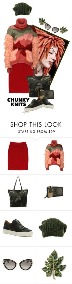 """Chunky Knits"" by ragnh-mjos ❤ liked on Polyvore featuring St. John, Bashaques, Frye, Isabel Marant, Miu Miu and Kenneth Jay Lane"