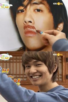 In Hello baby Onew found he is an artist! XD
