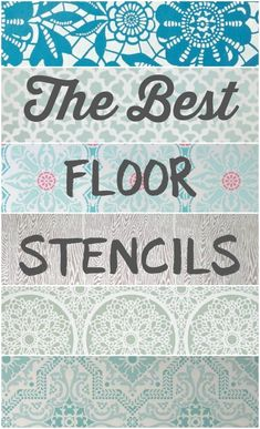 The best floor stencils for stenciling your wood or concrete floors. Plus helpful tips for creating your own stenciled floors. The best floor stencils for stenciling your wood or concrete floors. Plus helpful tips for creating your own stenciled floors. Porch Flooring, Basement Flooring, Diy Flooring, Bathroom Flooring, Kitchen Flooring, Ceramic Flooring, White Flooring, Laminate Flooring, Paint For Basement Walls