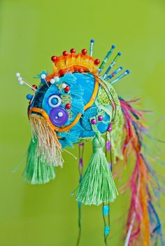 Grandpa Koi FIsh Sculpture Fabric Art. $37,50, via Etsy.
