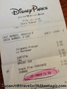 Disney Dining Plan Snack Credits - What they are and how to use them