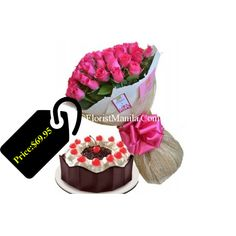 24 Pink Rose Bouquet with Black Forest Cake for your Loves Rose w/ Cakes to Philippines,Mothers Day Cakes Philippines,Send Philippines Cakes for your Loves ones Pink Rose Bouquet, Black Forest Cake, Mothers Day Cake, Cake Delivery, Online Gift Shop, Red Ribbon, Philippines, Celebrations, Choices