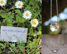 simple translucent necklace