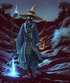 Black Mage Costume Vivi Halloween Final Fantasy Tactics Cape Hat Pants scarf