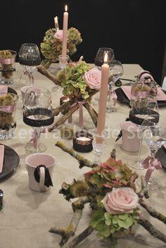 #table #decor #pink #autumn