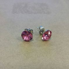 8mm Rose Swarovski Crystal Studs by elledesignsboutique on Etsy