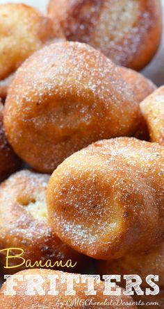 Banana Fritters | OMGChocolateDesserts.com | #banana #fritters
