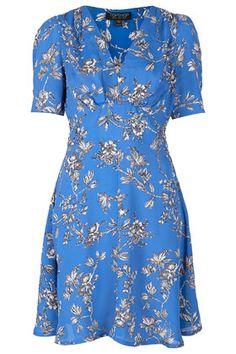 Branch Floral Tea Dress by Topshop