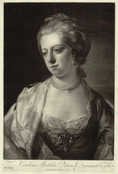 CAROLINA MATILDA QUEEN OF DENMARK AND NORWAY. 1751-1775.  At the age of fifteen married her cousin, Christian VII of Denmark.   She was an avid reader of Voltaire,  Rousseau and other advocacy of freedom of religion, freedom of expression, and separation of church and state.   With the help of Johann Friedrich Struensee the royal physician and minister who became her lover, encouraged her husband the king to do all those changes according with the progressist values of the Enlightenment.