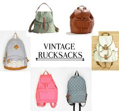 vintage rucksacks