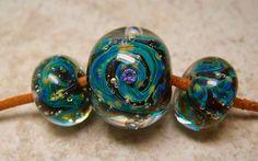 5 Fish Designs - Artisan Glass Lampwork Bead Sets