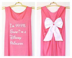 I'm 99 sure i'm a Disney Princess Tank Premium with Bow : Workout Shirt - Keep Calm Shirt - Tank Top - Bow Shirt - Razor Back Tank