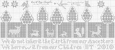 Earth Day Sampler (free chart)  Heartstring Samplery