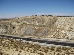 The San Andreas fault along highway 14 near Palmdale, California