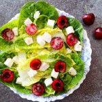 sałata z fetą i czereśniami Fruit Salad, Feta, Ethnic Recipes, Fruit Salads