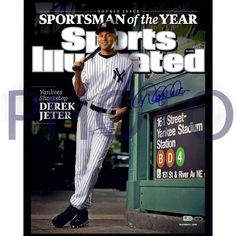 "New York Yankees Derek Jeter Autographed Sports Illustrated 8x10"" Inch Mounted Photograph Steiner Sports. https://www.etsy.com/listing/263598464/new-york-yankees-derek-jeter-autographed"