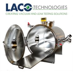 #LACO High Vacuum Chamber w/ Shelf. American aerospace manufacturer, required a high vacuum chamber with a slide-out shelf that would support 100 lbs. We built a stainless steel, highly electro polished chamber with a shelf that rests in a dual v rail system. The chamber is rated and tested to reach a vacuum level of 1 x 10-6. #vacuumchamber…